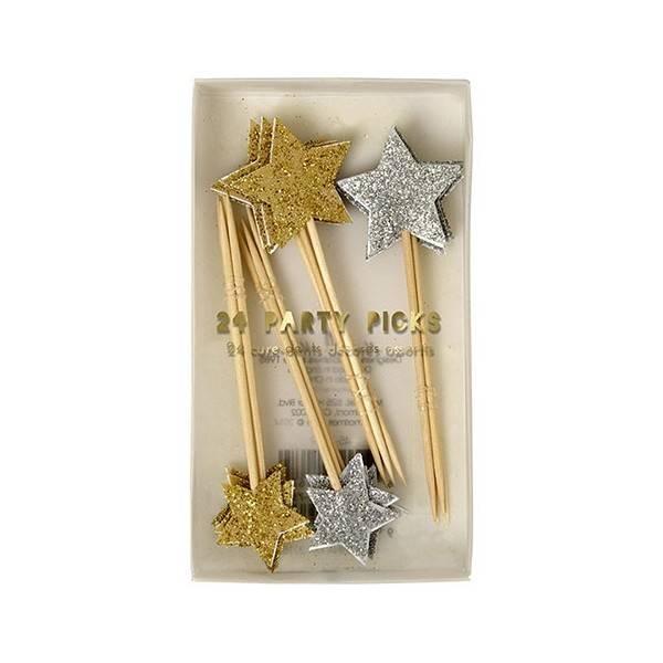 MERIMERI gold & silver party picks