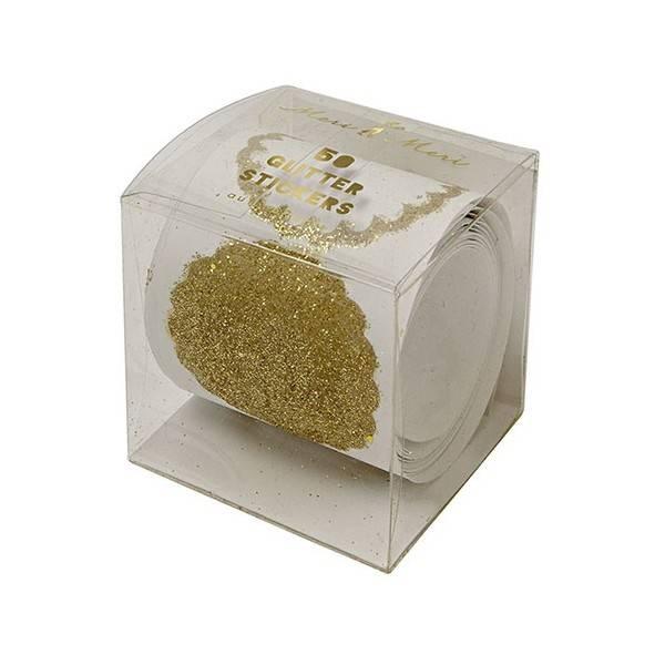 MERIMERI Gold glitter stickers