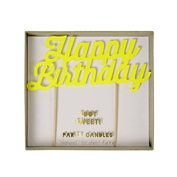 MERIMERI Happy Birthday Candles