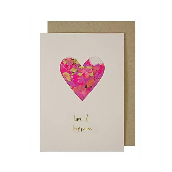 MERIMERI Heart confetti card