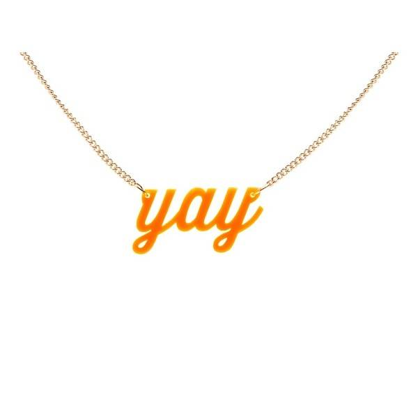 MERIMERI Orange Yay Necklace