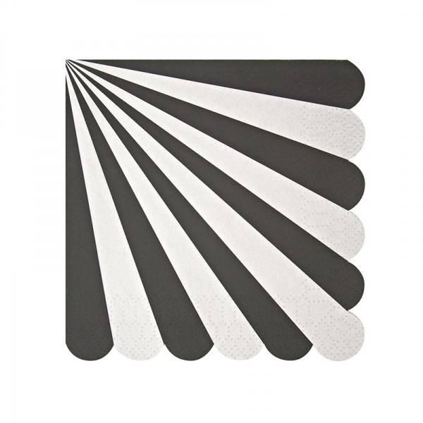 MERIMERI Black stripe napkin