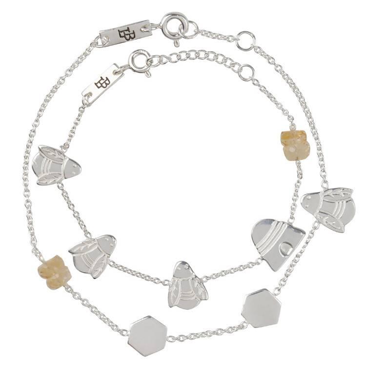 LENNEBELLE queen bee bracelet mother silver