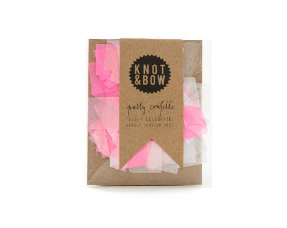 KNOT & BOW Confetti Single Serving: Pink