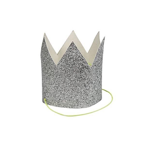 MERIMERI Mini silver glitter crown