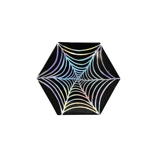 MERIMERI Cobweb foil plates XS
