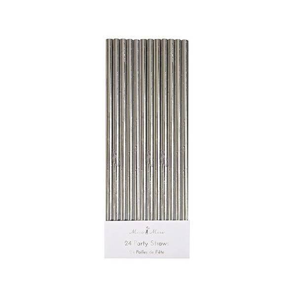 MERIMERI Silver foil straws