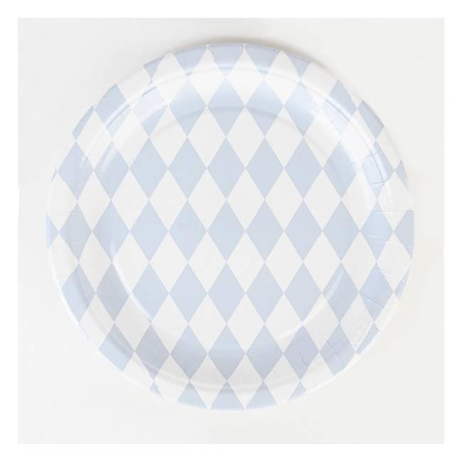 MY LITTLE DAY paper plates - light blue diamonds 8 x  sc 1 st  yay-conceptstore.com & PAPER PLATES - LIGHT BLUE DIAMONDS 8 X - YAY