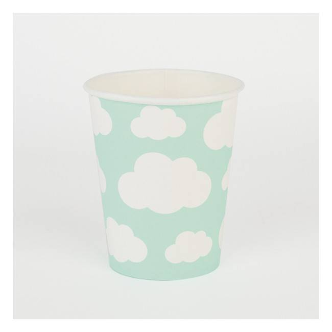 MY LITTLE DAY paper cups - clouds 8 x