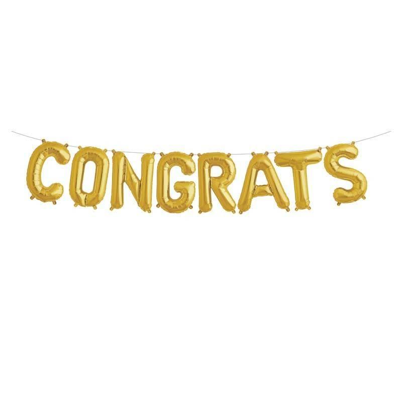 Congrats gold foilballoon