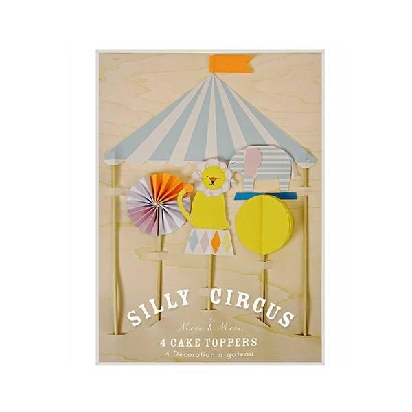 MERIMERI Silly Circus Cake Topper