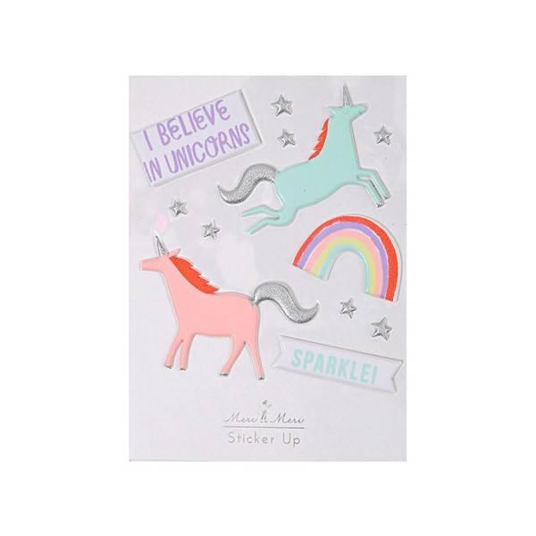 MERIMERI Unicorn 3D stickers