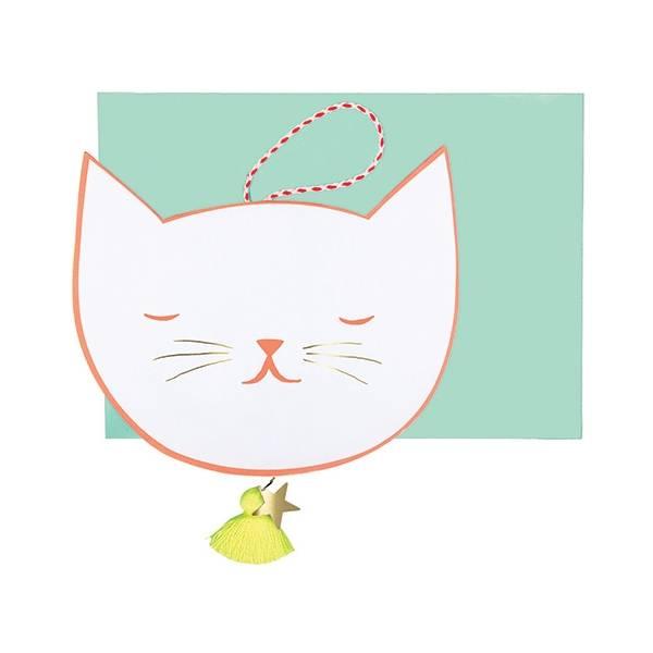 MERIMERI Cat face card
