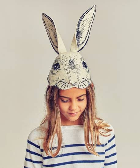 FRIDAS TIERCHEN RABBIT HEADPIECE BLACK