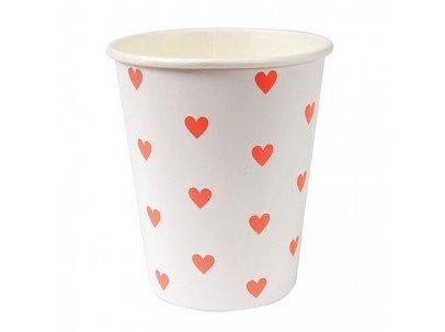 MERIMERI Pink hearts cups