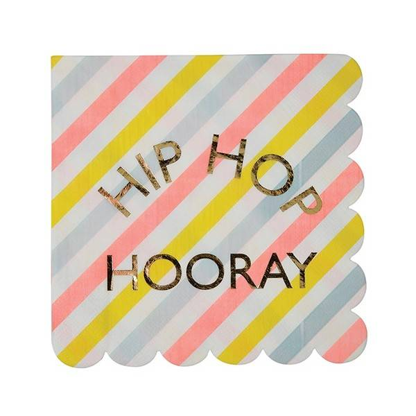 MERIMERI Hip Hop Hooray napkins