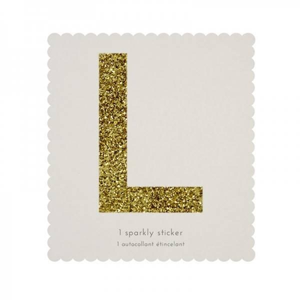 MERIMERI Glitter alphabet stickers L