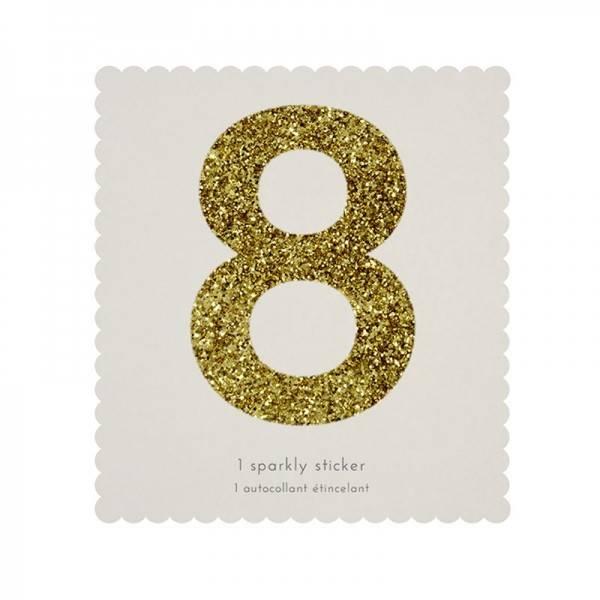 MERIMERI Glitter alphabet stickers 8