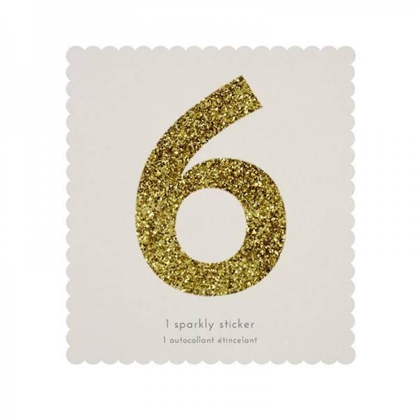MERIMERI Glitter alphabet stickers 6