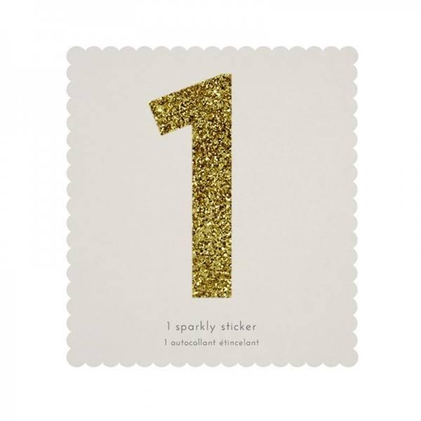MERIMERI Glitter alphabet stickers 1