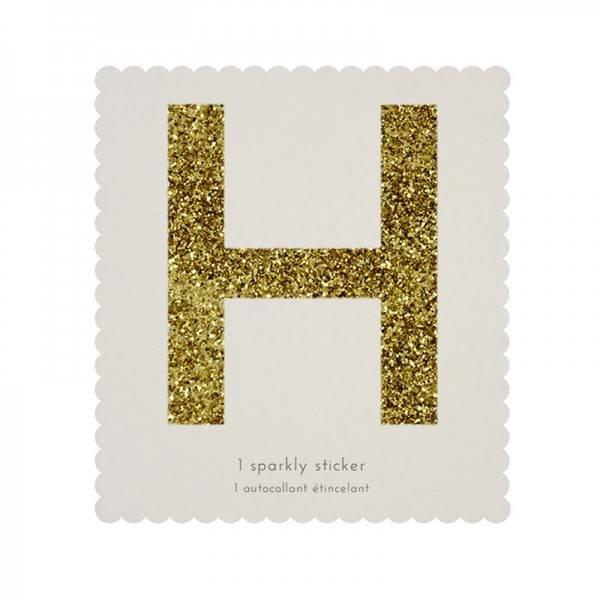 MERIMERI Glitter alphabet stickers H