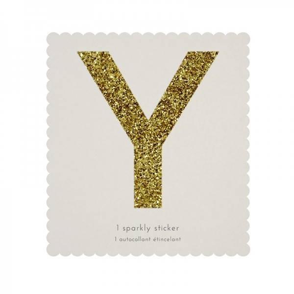 MERIMERI Glitter alphabet stickers Y