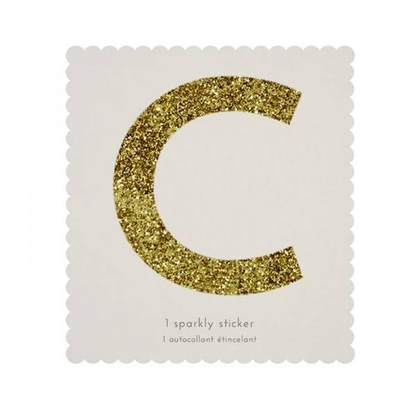 MERIMERI Glitter alphabet stickers C