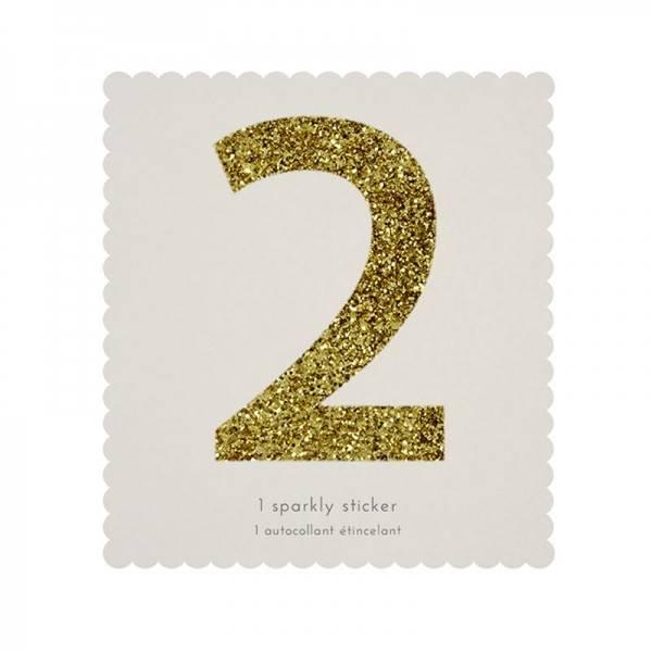 MERIMERI Glitter alphabet stickers 2
