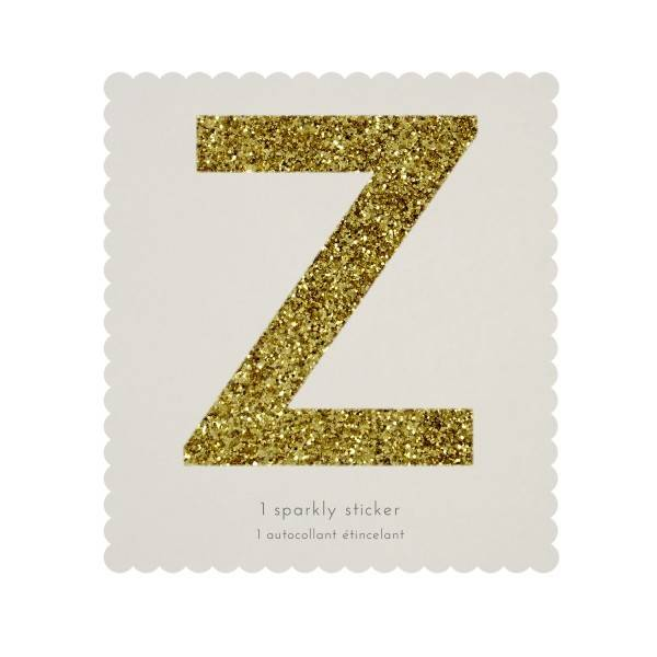 MERIMERI Glitter alphabet stickers Z