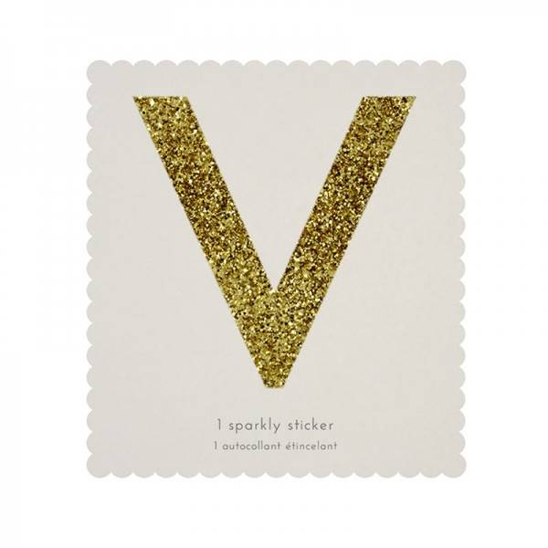 MERIMERI Glitter alphabet stickers V