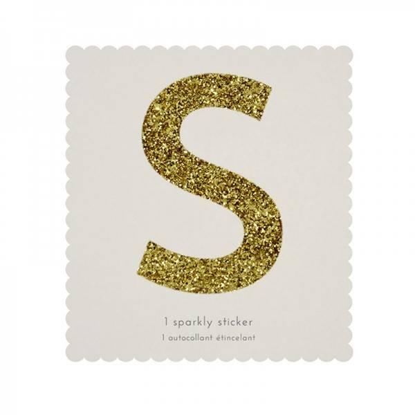 MERIMERI Glitter alphabet stickers S