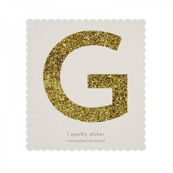MERIMERI Glitter alphabet stickers G