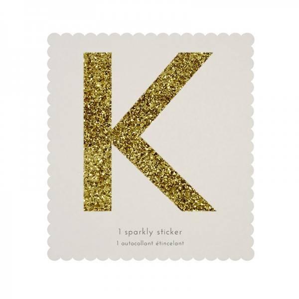 MERIMERI Glitter alphabet stickers K