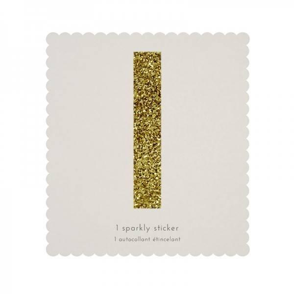 MERIMERI Glitter alphabet stickers I