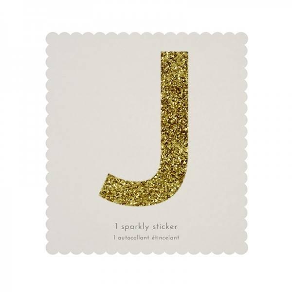 MERIMERI Glitter alphabet stickers J