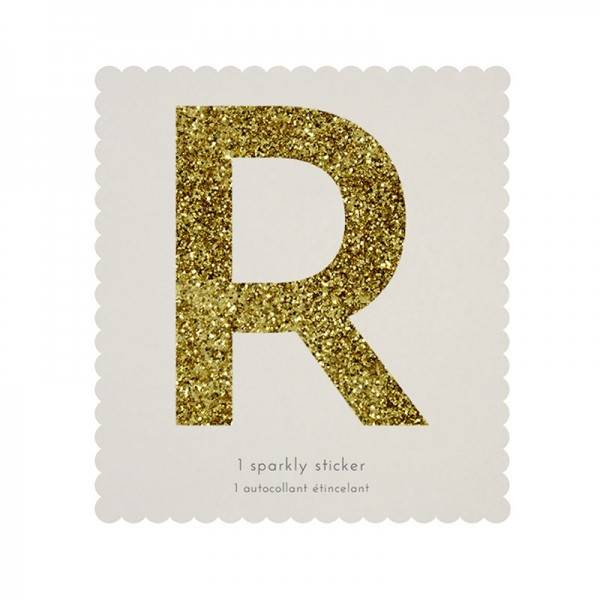 MERIMERI Glitter alphabet stickers R