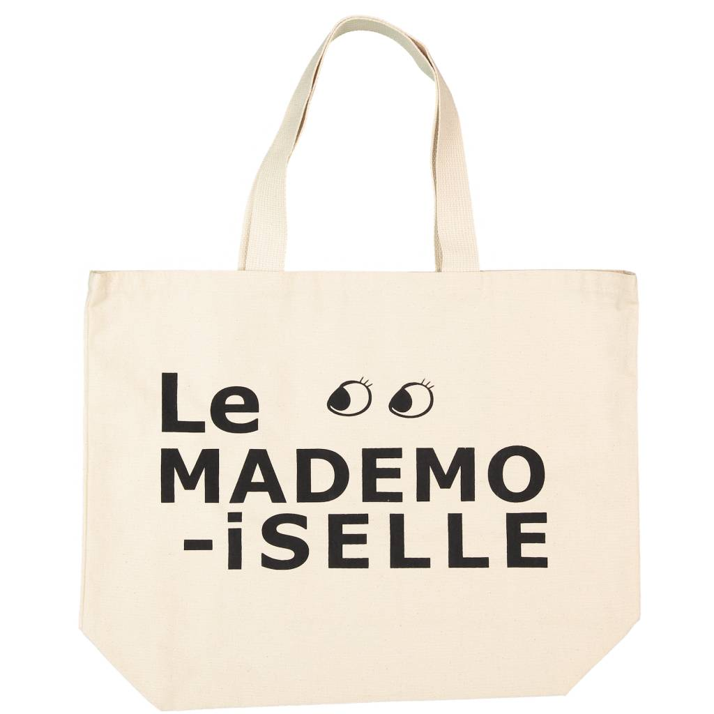 ATSUYO ET AKIKO grand canvas bag - le mademoiselle in natural