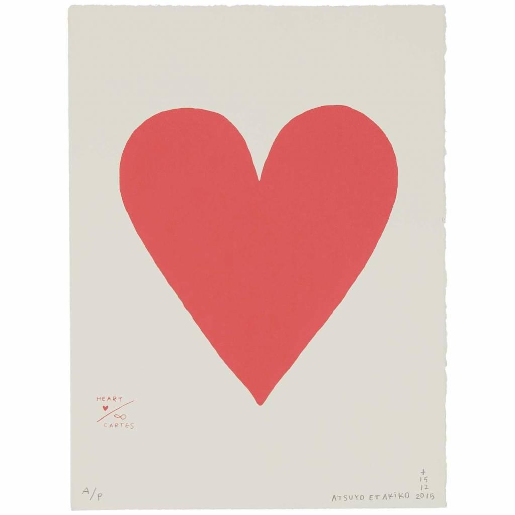 ATSUYO ET AKIKO carte - heart wall art - 100% cotton, bfk rives paper