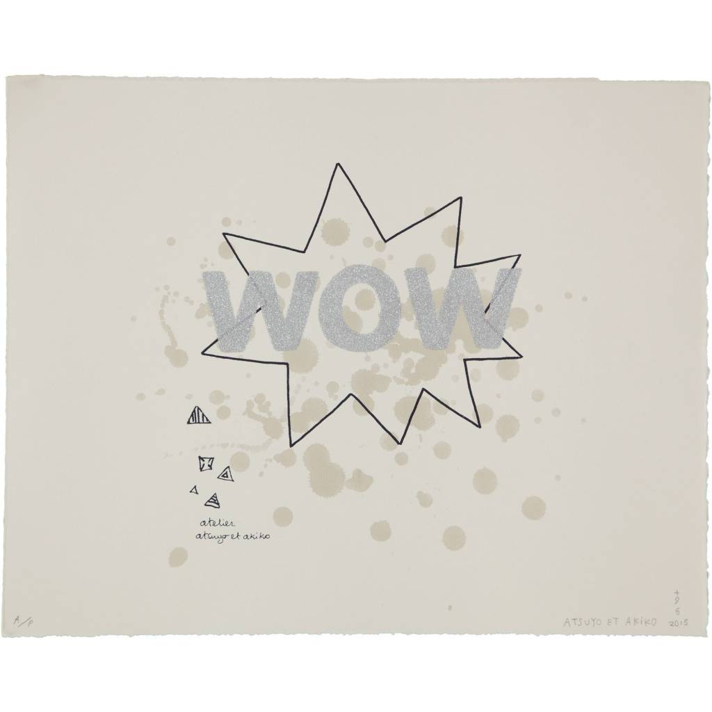 ATSUYO ET AKIKO wow wall art silver glitter 100% cotton, bfk rives paper
