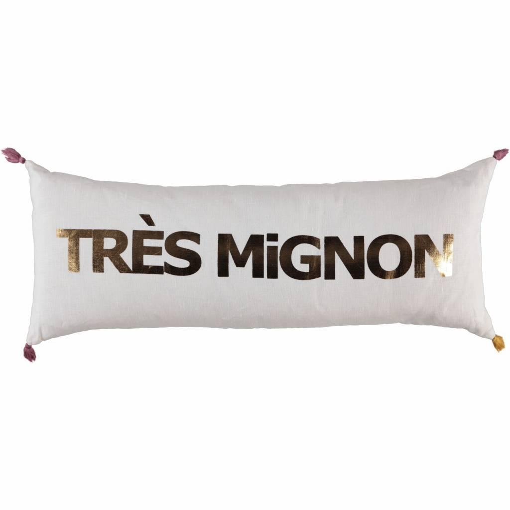 ATSUYO ET AKIKO tres mignon double cushion milky white + gold foil