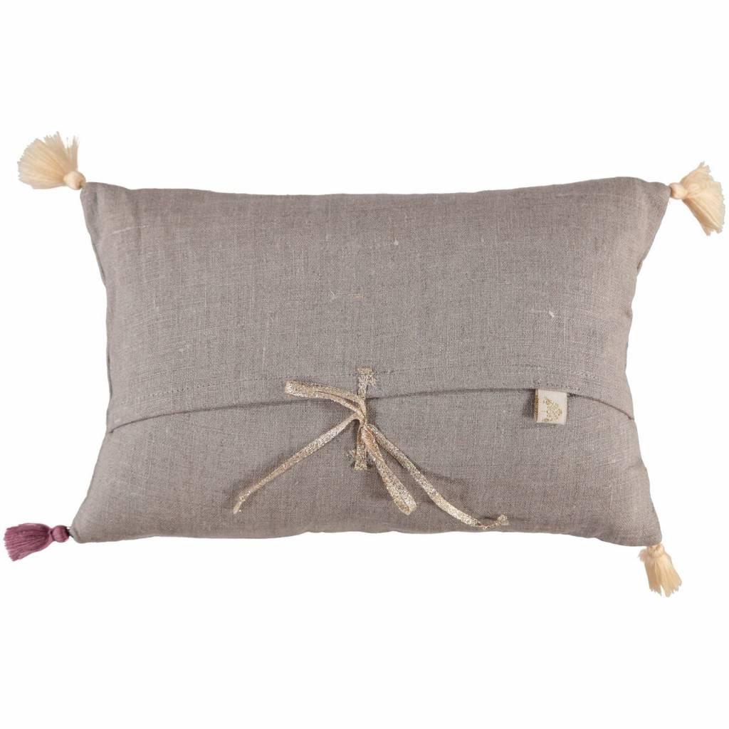 ATSUYO ET AKIKO b̩b̩ petit cushion coconut + gold foil - shell only