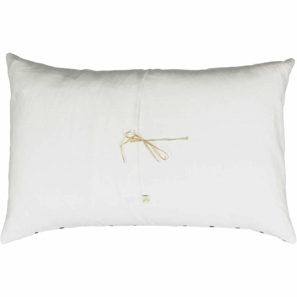 ATSUYO ET AKIKO diamond je t'aime carte cushion milky white