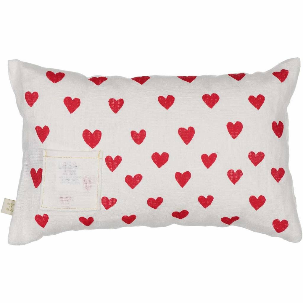 ATSUYO ET AKIKO love petit carte cushion milky white