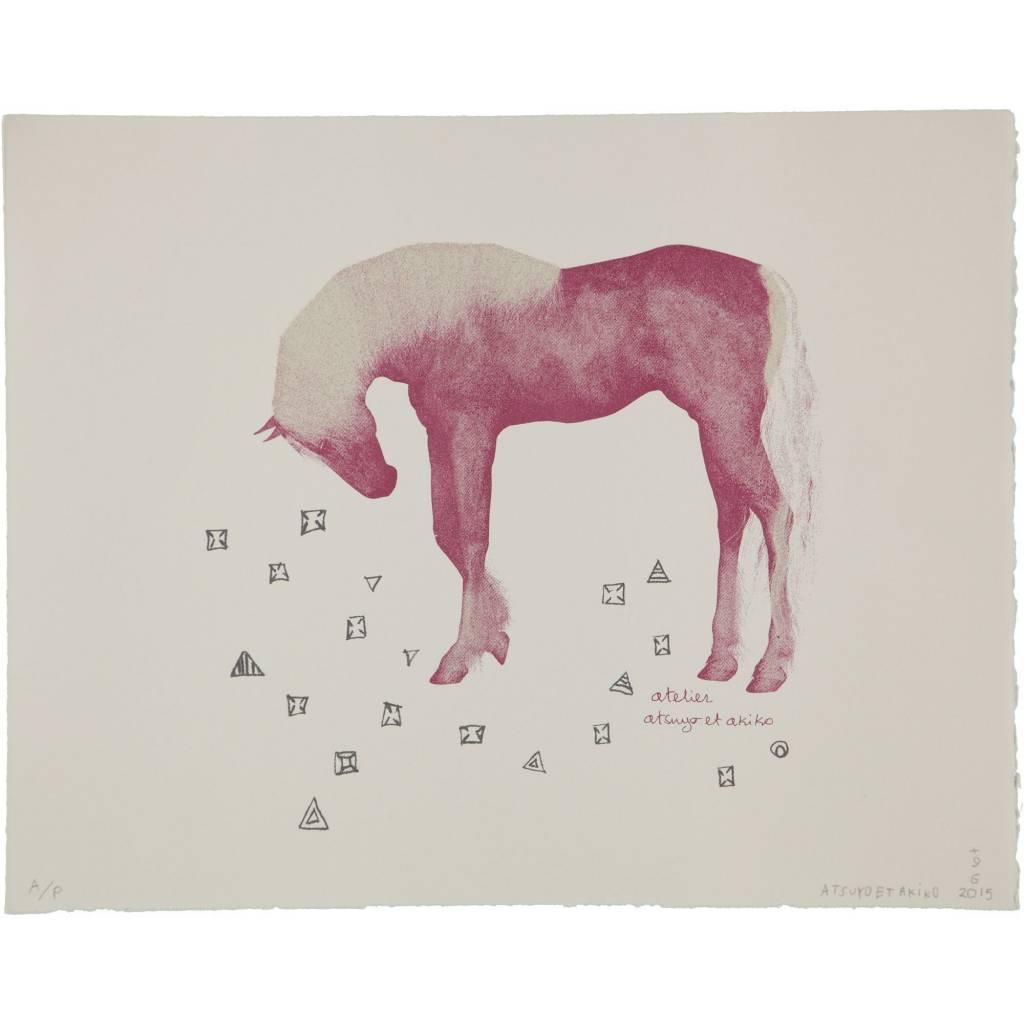 ATSUYO ET AKIKO horse wall art 100% cotton, bfk rives paper