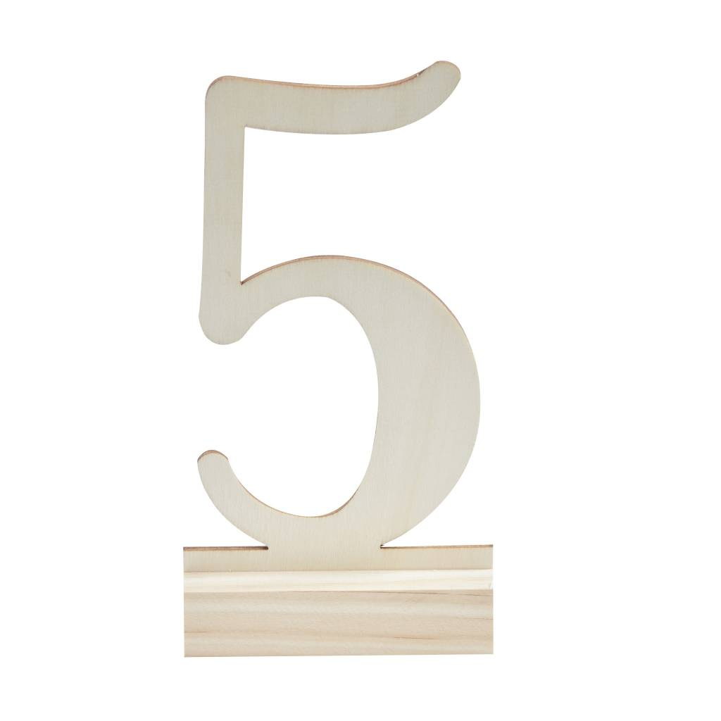 GINGERRAY Table Numbers - Wooden 1-12
