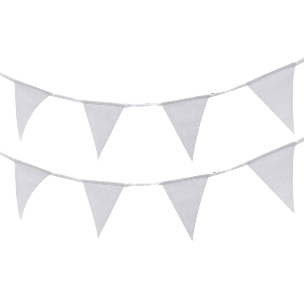 GINGERRAY Bunting - White Fabric
