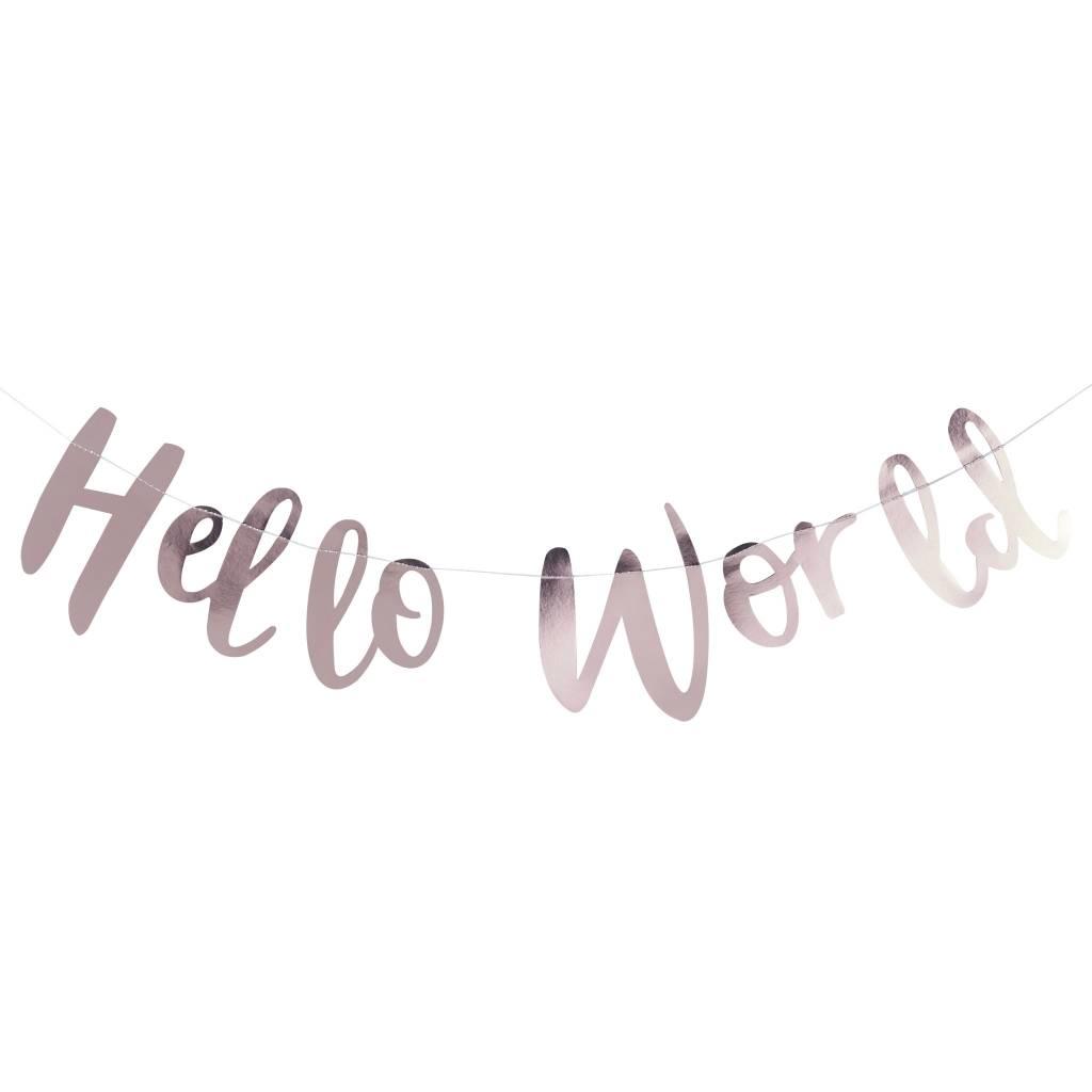 GINGERRAY Bunting - Hello World