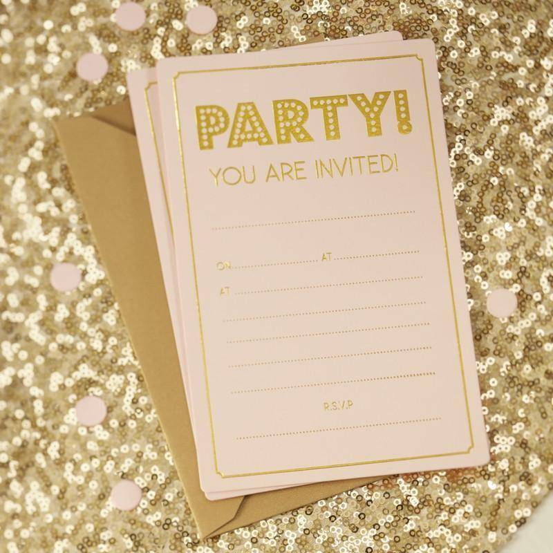 GINGERRAY gold invitations