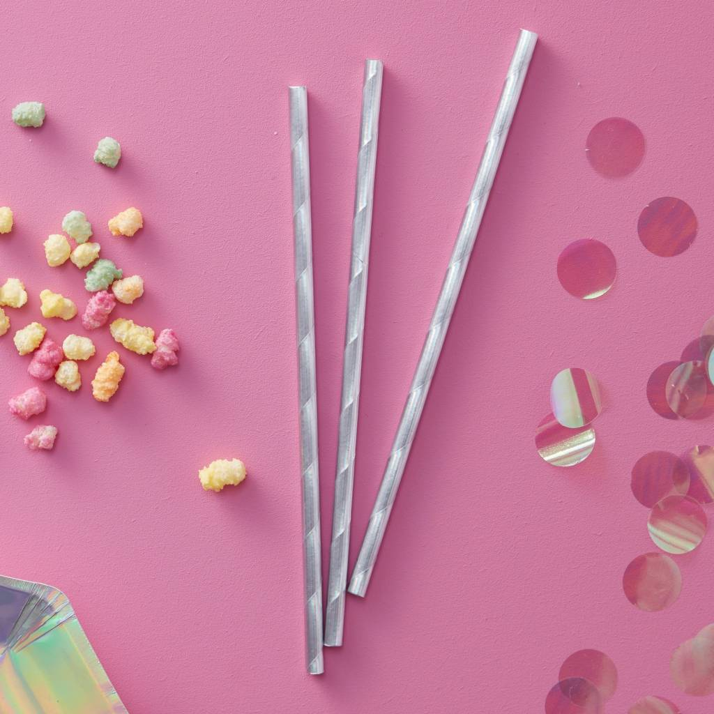 GINGERRAY Iridescent Party - Paper Straws