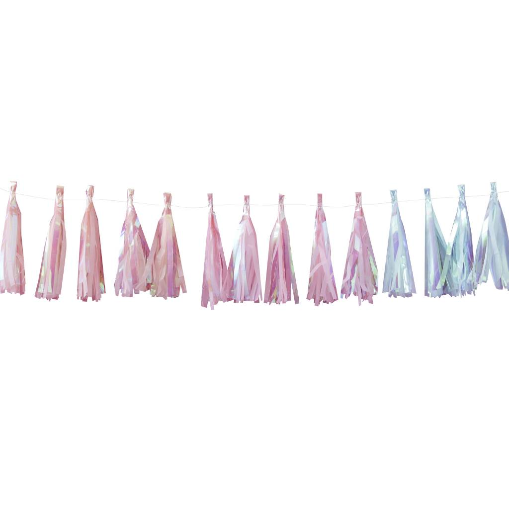 GINGERRAY Tassel Garland - Iridescent Pastel